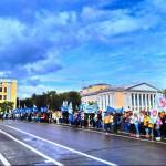 Более 3000 первокурсников вышли на первый в Кирове парад студенчества