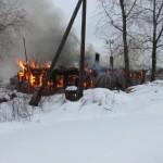 В области полностью сгорел жилой дом