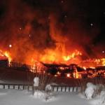 В области сгорел дом