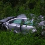 Водитель Kia лишился колеса, столкнувшись с «Грантой» на встречке