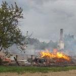 В Котельничском районе сгорели два жилых дома