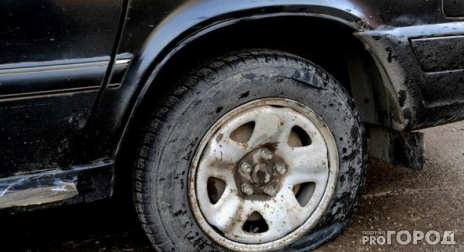 порезали колеса 15 машин