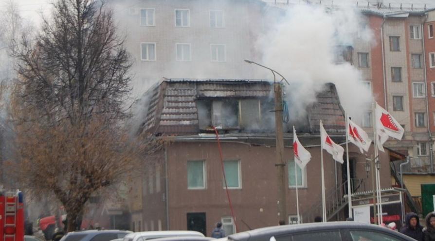 пожар у дворца молодежи