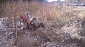 На трассе в Уржумском районе ВАЗ улетел в кювет: госпитализирована 10-летняя девочка
