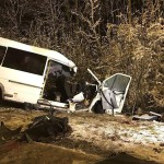 В Марий Эл день траура: в жутком столкновении микроавтобуса и лесовоза погибли 15 человек