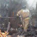 В Малмыжском районе сгорели два хлева с животными