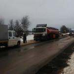 В Кировской области на трассе «Вятка» грузовик врезался в бензовоз: пролитое топливо засыпали песком