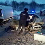 В Кировской области водитель «Лады Калины» погиб в лобовом столкновении с микроавтобусом