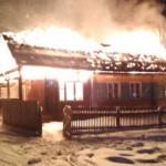 В Подосиновском районе сгорело строение, стоявшее рядом с подстанцией