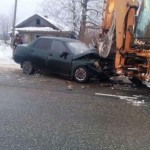 В Котельничском районе на трассе «Вятка» пьяный водитель на «ВАЗе» врезался в трактор