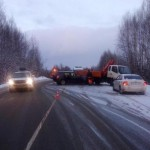 В Юрьянском районе на трассе столкнулись кроссовер и грузовик