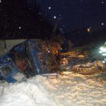 На трассе в жутком лобовом столкновении лесовоза и КамАЗа погиб кировский дальнобойщик