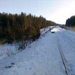 В Кировской области вблизи железной дороги с насыпи катаются дети на ватрушках и санках