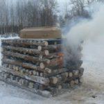 В Кировской области провели обряд сожжения тела на погребальном костре