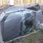 В Кирове «Лада» улетела в кювет: пассажир автомобиля госпитализирован