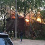 В Кирове ночью горел двухэтажный дом