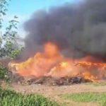 В Слободском сгорела хозяйственная постройка: раньше в ней находился гараж для мотоциклов