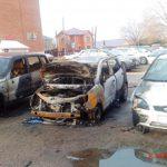 В Вятских Полянах сгорели три машины