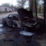В Оричевском районе ВАЗ врезался в дерево и сгорел: водитель с места аварии скрылся