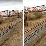 В Кирове трое школьников качались на «тарзанке» на железнодорожных путях