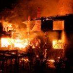 В коттеджном поселке в Слободском районе сгорел дом: ущерб от пожара составил 2 миллиона рублей