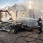 В Кирово-Чепецком районе на складе цеха деревообработки сгорели 20 тонн пеллет
