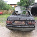 В Котельничском районе в гараже сгорел автомобиль
