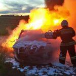 В Богородском районе на трассе сгорела «Ауди А6»