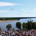 Выступление «Русских Витязей» в Кирове: весь город встал в пробках