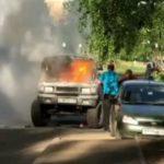 В Кирове во время движения вспыхнул УАЗ