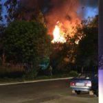 В Кирове ночью сгорел деревянный жилой дом