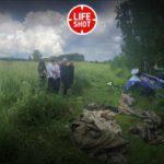 Опубликовано видео падения легкомоторного самолёта под Кировом