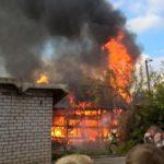 В Вятских Полянах сгорело нежилое деревянное строение