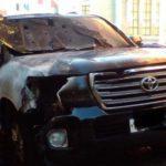 Ночью в Кирове сгорел Land Cruiser