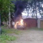 В Кирове сгорела машина