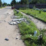 В Верхошижемье неизвестный водитель снес ограждение мемориала: полиция и жители разыскивают виновника