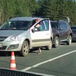 Тройное ДТП на трассе Киров-Юрья стало причиной массового затора