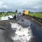 Появилось видео с места страшной аварии, в которой погиб кировский священник