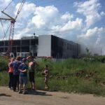 В Зуевке загорелось строящееся здание школы