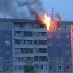 В Кирове горит квартира в десятиэтажном доме