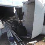 В Фалёнском районе грузовик опрокинулся в кювет