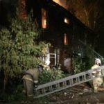 В Кирове сгорел нежилой деревянный дом