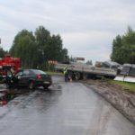 В Нолинском районе столкнулись «Рено Логан» и «КамАЗ»: женщина – пассажир легкового автомобиля госпитализирована