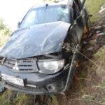 На дороге Подосиновец – Луза 21-летний водитель Mitsubishi вылетел в кювет и опрокинулся: два человека госпитализированы