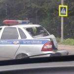 На Советском тракте столкнулись три машины: в том числе автомобиль полиции