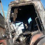 На трассе в Кирове сгорел «КамАЗ»