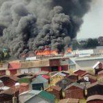 В Кирове сгорели гаражи