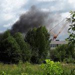 На территории строящейся школы в Зуевке произошел еще один пожар