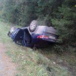 В Слободском районе женщина на Kia опрокинулась в кювет: водитель и пассажир получили травмы