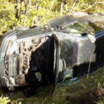 В Орловском районе водитель Daewoo вылетел в кювет и перевернулся